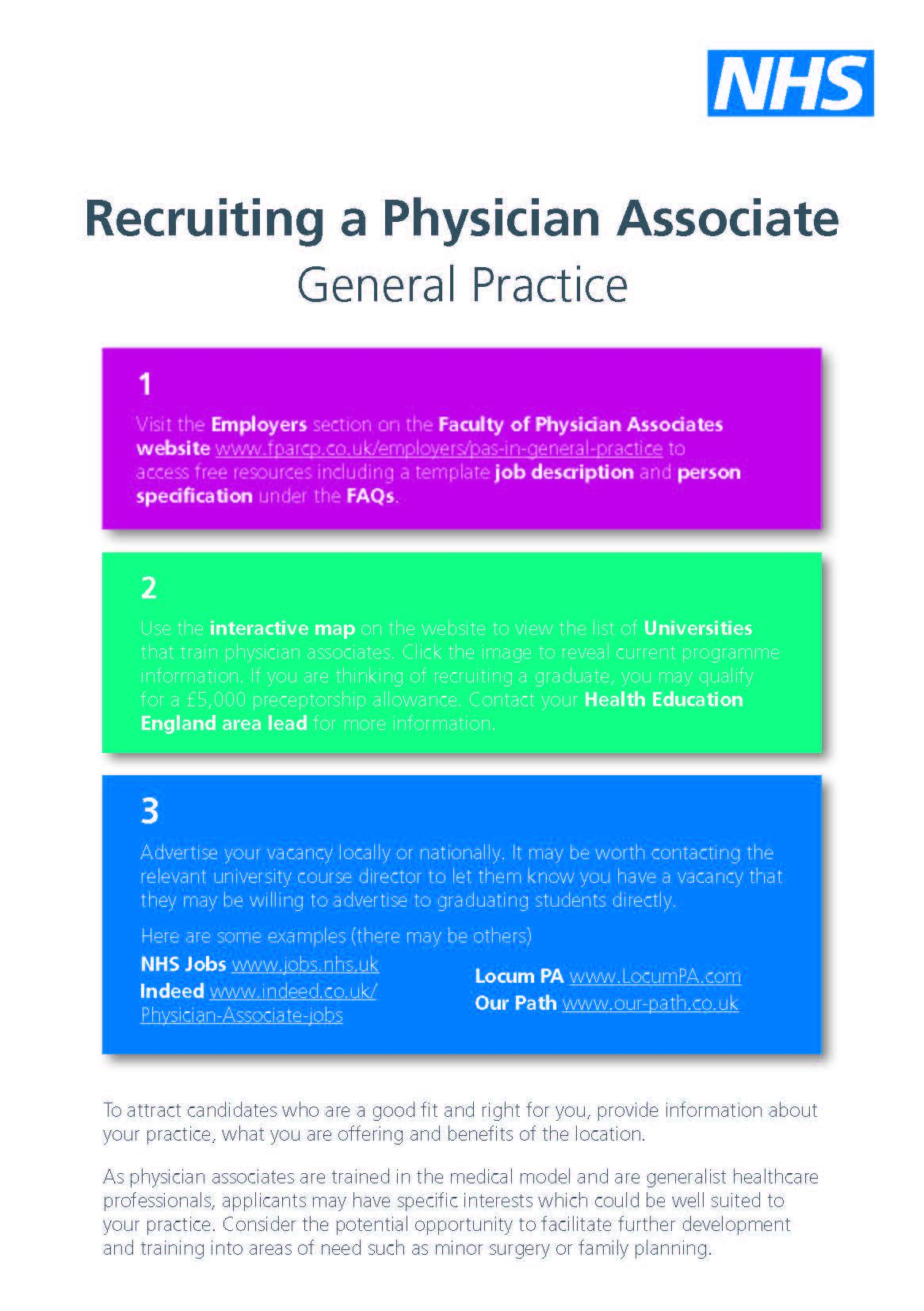 Faculty Of Physician Associates Quality Health Care Across The Nhs
